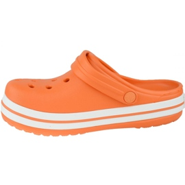 Klapki Crocs Crocband Clog K Jr 204537-810 pomarańczowe szare 1
