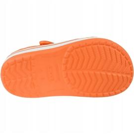 Klapki Crocs Crocband Clog K Jr 204537-810 pomarańczowe szare 3