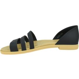 Sandały Crocs Tulum Open Flat W 206109-00W czarne 1