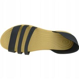 Sandały Crocs Tulum Open Flat W 206109-00W czarne 2