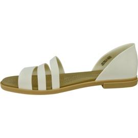 Sandały Crocs Tulum Open Flat W 206109-1CQ białe 1