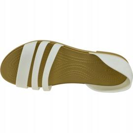 Sandały Crocs Tulum Open Flat W 206109-1CQ białe 2