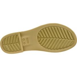 Sandały Crocs Tulum Open Flat W 206109-1CQ białe 3