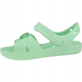 Sandały Crocs Classic Cross-Strap Sandal K 206245-3TI niebieskie 1