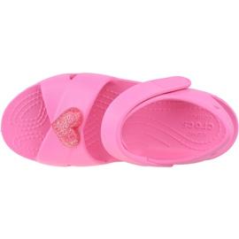 Sandały Crocs Classic Cross-Strap Sandal K 206245-669 czarne różowe 2