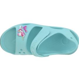 Sandały Crocs Fun Lab Unicorn Charm Sandal K 206366-4O9 niebieskie 2