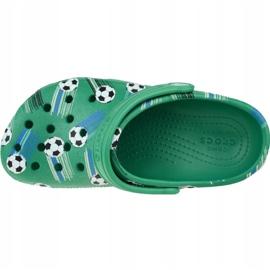 Klapki Crocs Classic Sport Ball Clog Ps Jr 206417-3TJ zielone 2