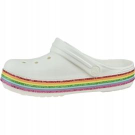Klapki Crocs Rainbow Glitter Clog 206151-100 białe 1