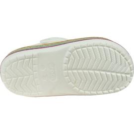 Klapki Crocs Rainbow Glitter Clog 206151-100 białe 3