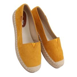 Espadryle klasyczne miodowe 99-23A Yellow żółte 3