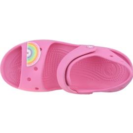 Sandały Crocs Imagination Sandal Ps 206145-669 czarne różowe 2