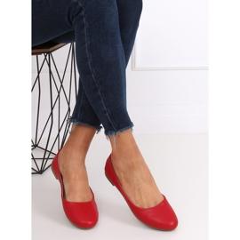 Baleriny damskie czerwone YSD817 Red 4