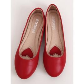 Baleriny damskie czerwone YSD817 Red 1