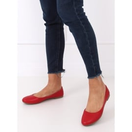Baleriny damskie czerwone YSD817 Red 3