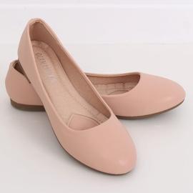 Baleriny damskie różowe YSD817 Nude 1