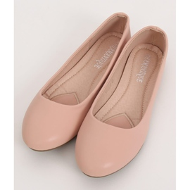 Baleriny damskie różowe YSD817 Nude 2