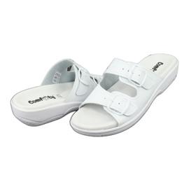 Klapki białe profilaktyczne Comfooty Carolina 3
