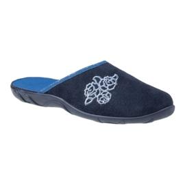 Befado kolorowe obuwie damskie pu 235D157 granatowe niebieskie 1