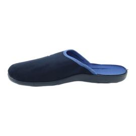 Befado kolorowe obuwie damskie pu 235D157 granatowe niebieskie 2
