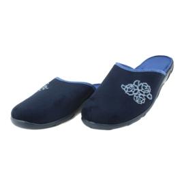 Befado kolorowe obuwie damskie pu 235D157 granatowe niebieskie 3