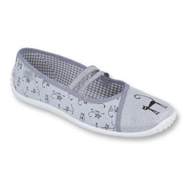 Befado obuwie młodzieżowe 345Q163 szare 1