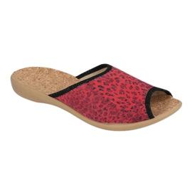 Befado obuwie damskie pu 254D112 czerwone 1