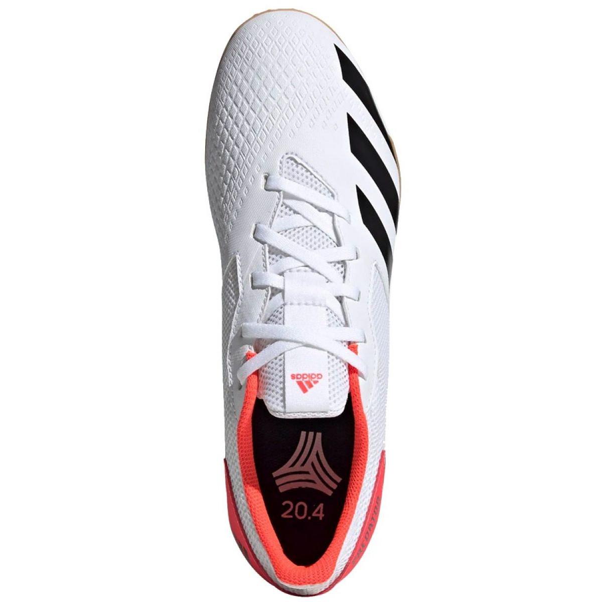 Buty halowe adidas Predator 20.4 In Sala M EG0926 białe wielokolorowe
