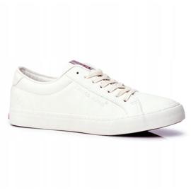 Trampki Męskie Cross Jeans Białe FF1R4035C 1
