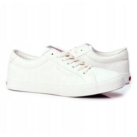 Trampki Męskie Cross Jeans Białe FF1R4035C 4
