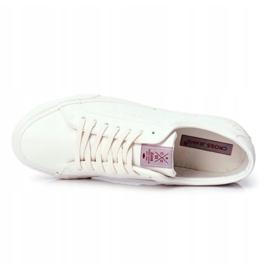 Trampki Męskie Cross Jeans Białe FF1R4035C 5