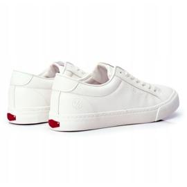 Trampki Męskie Cross Jeans Białe FF1R4035C 2