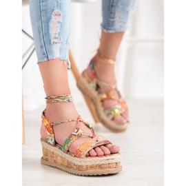 Seastar Wiązane Koturny Fashion wielokolorowe 1