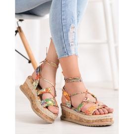 Seastar Wiązane Koturny Fashion wielokolorowe 5