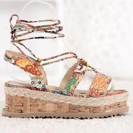 Seastar Wiązane Koturny Fashion wielokolorowe 2