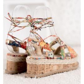 Seastar Wiązane Koturny Fashion wielokolorowe 3