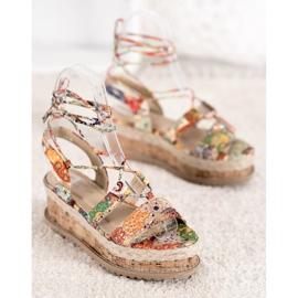 Seastar Wiązane Koturny Fashion wielokolorowe 4