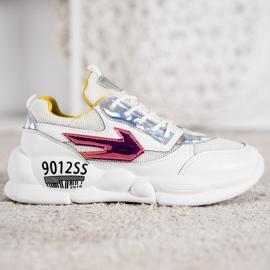 SHELOVET Sneakersy Z Eko Skóry Fashion 2