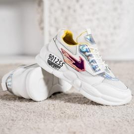 SHELOVET Sneakersy Z Eko Skóry Fashion 3