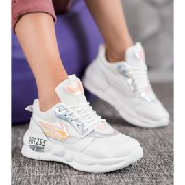 SHELOVET Sneakersy Z Eko Skóry Fashion 4
