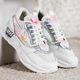 SHELOVET Sneakersy Z Eko Skóry Fashion 1