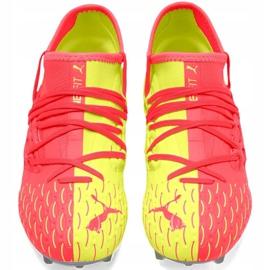 Buty piłkarskie Puma Future 5.3 Netfit Jr Osg Fg Ag 105947 01 czerwone żółte 1