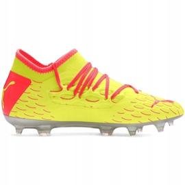 Buty piłkarskie Puma Future 5.3 Netfit Jr Osg Fg Ag 105947 01 czerwone żółte 2