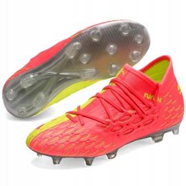 Buty piłkarskie Puma Future 5.3 Netfit Jr Osg Fg Ag 105947 01 czerwone żółte 3