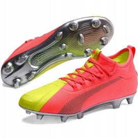 Buty piłkarskie Puma One M 20.2 Osg Fg Ag 105959 01 niebieskie żółte 3