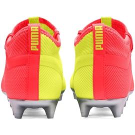 Buty piłkarskie Puma One M 20.2 Osg Fg Ag 105959 01 niebieskie żółte 5