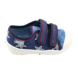Befado obuwie dziecięce  907P100 niebieskie 1