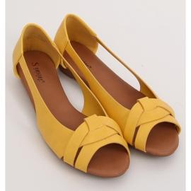 Baleriny wycięte miodowe CC221P Yellow żółte 4
