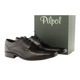 Buty męskie skórzane Pilpol 1261 czarne 4