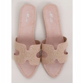 Klapki damskie różowe Q-88 Pink 3