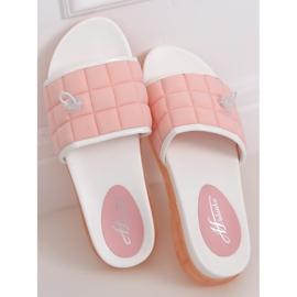 Klapki damskie różowe G-338 Pink 3